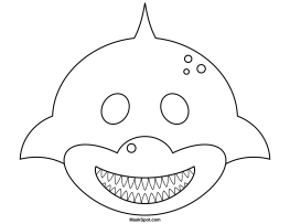 Printable Shark Mask to Color … | Pinteres…