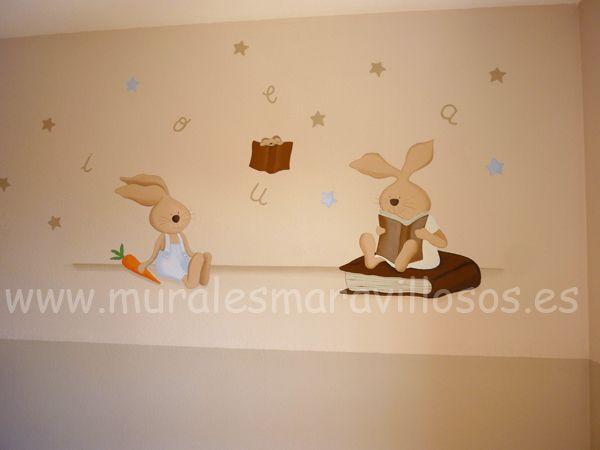 Murales infantiles pintados en toda espa a sobre paredes - Habitaciones pintadas infantiles ...