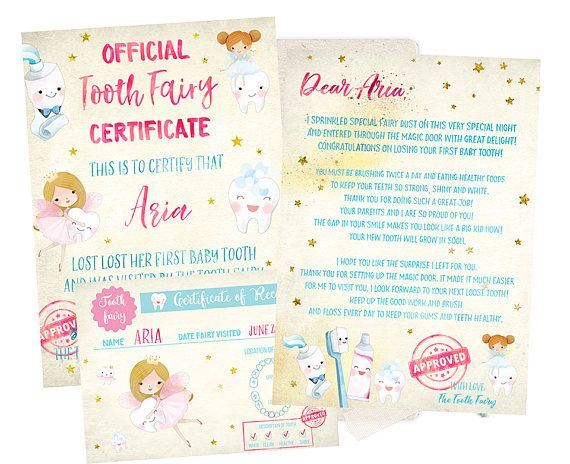 picture relating to Tooth Fairy Card Printable referred to as EDITABLE Teeth Fairy Receipt, Enamel Fairy Letter, Teeth