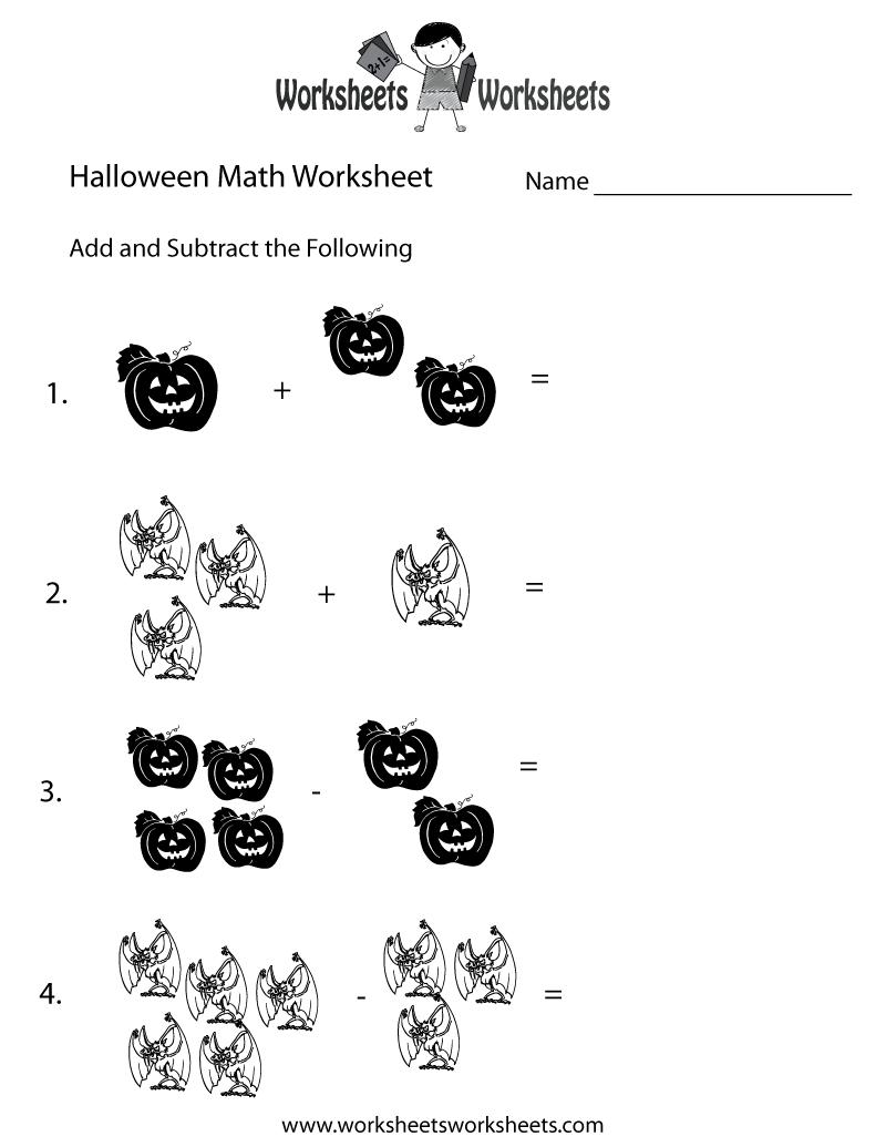 halloween math worksheet printable  holiday coloring pages  halloween math worksheet printable