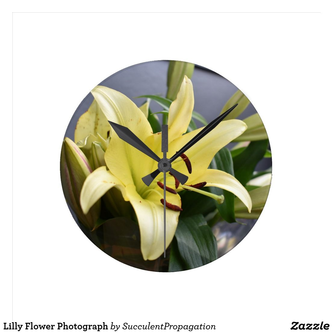 Lilly Flower Photograph Decorative Wall Clock | Decorative Wall ...