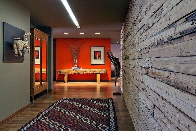 Artistic and Ethnic Mexican Apartment (4) Interior Design - paredes de madera