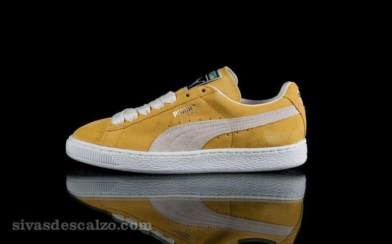 puma suede classic eco yellow