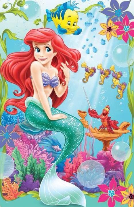 Ariel Disney Princess Princesses Characters Magic Walt Wallpaper Mermaid Birthday