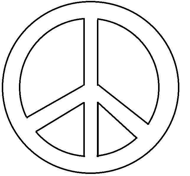 peace teken print peace sign printable clipart best