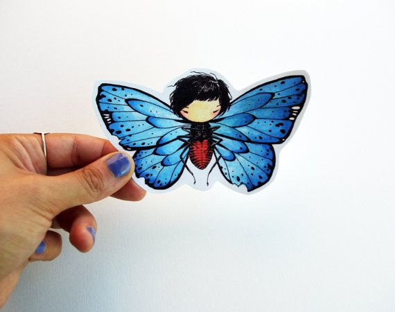 Butterfly Girl  Hand cut girl drawing by stasiab on Etsy, $2.50