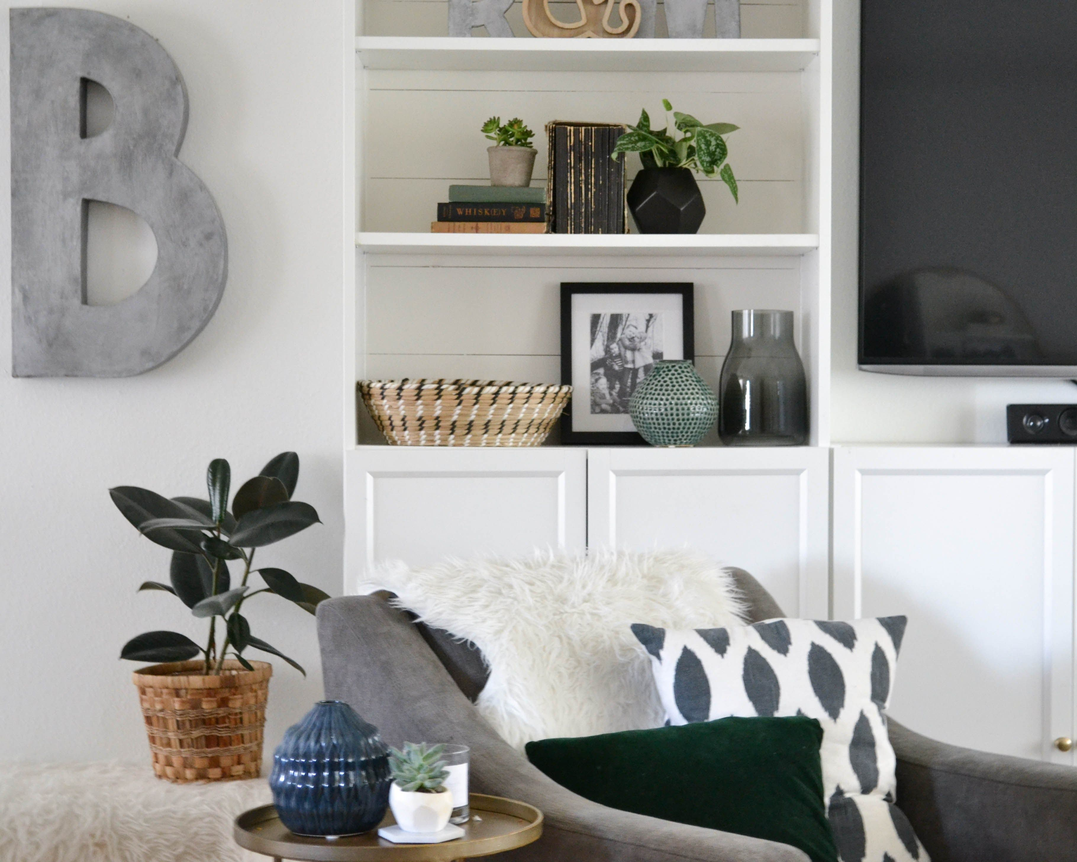Diy Shiplap Shelves Grace Valiant Easily Add Shiplap To The Back Of A Bookcase Bookshelves Built In Diy Shiplap Bookcase Diy