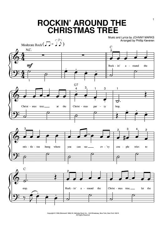 Rockin Around The Christmas Tree Digital Sheet Music Rockin Sheet Music