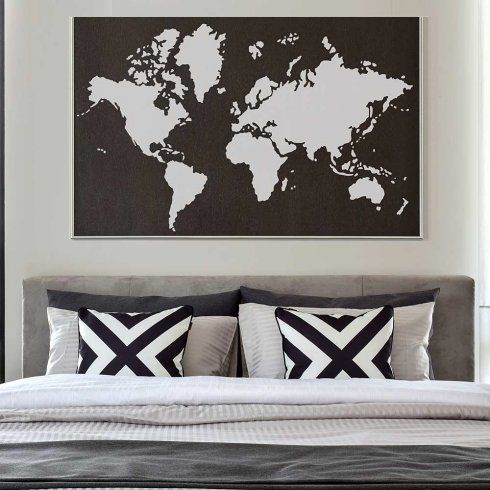 World Map Stencil Reusable Wall Instead Of Decals