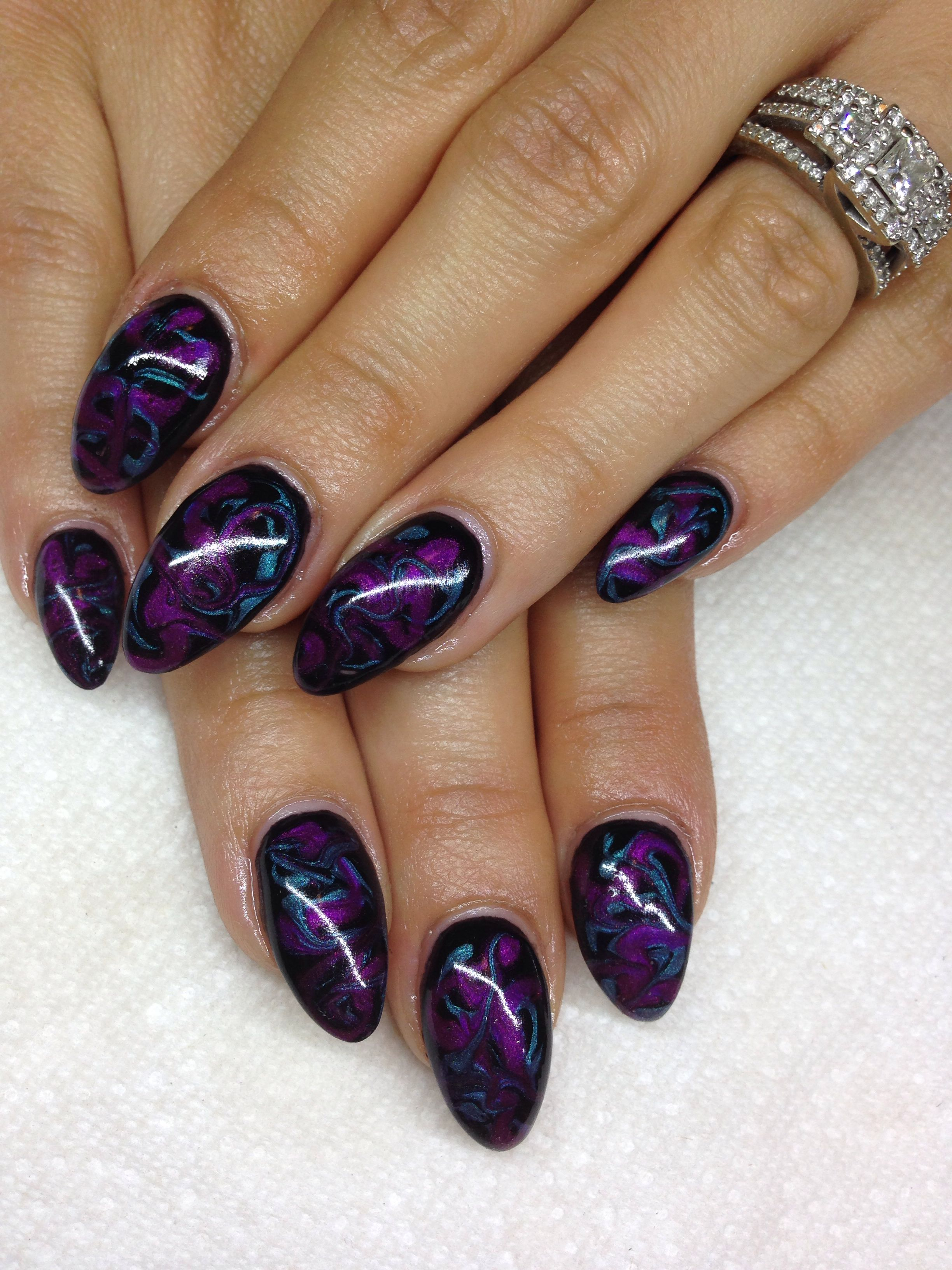 Gel nails with hand drawn design using gel by melissa fox makeup gel nails with hand drawn design using gel by melissa fox publicscrutiny Gallery