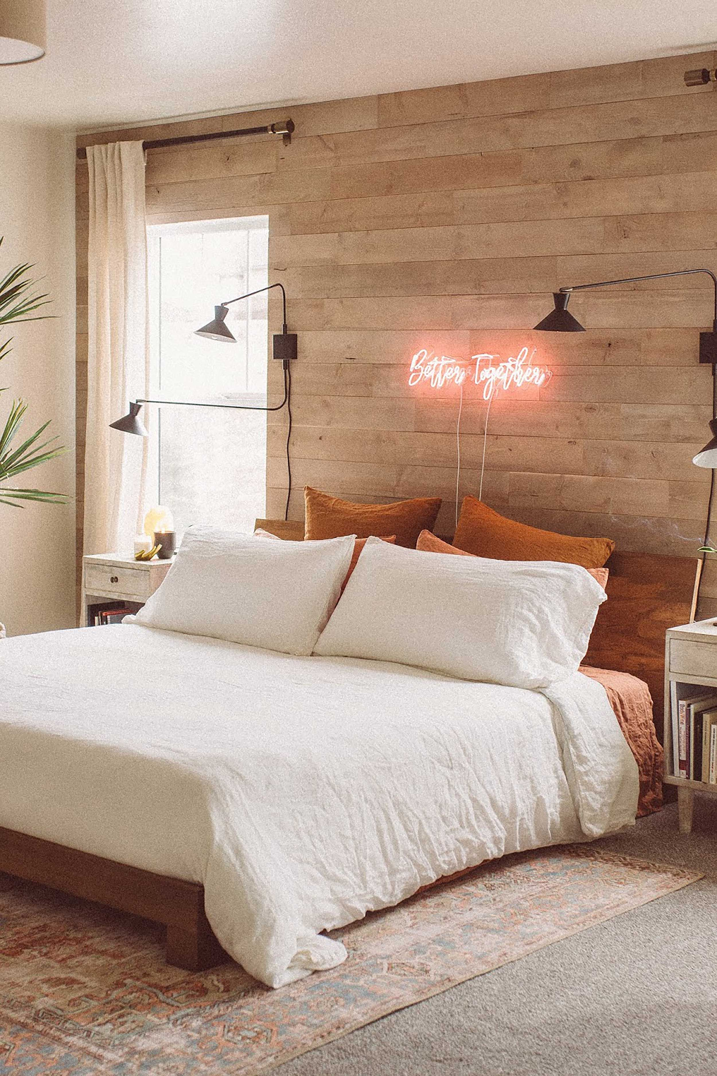 Accent Walls Are Cool Again Here S How To Get Them Right Wood Walls Bedroom Bedroom Wall Wood Accent Wall Bedroom
