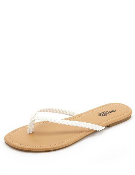 131bcb900879 Braided Thong Sandals  Charlotte Russe Cute Sandals