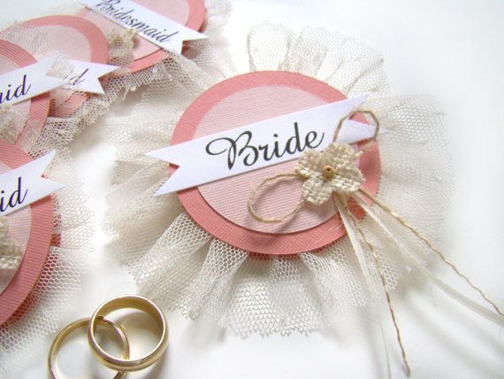 bride badge bachelorette party pins bridal shower hen party pins wedding party badges coral wedding