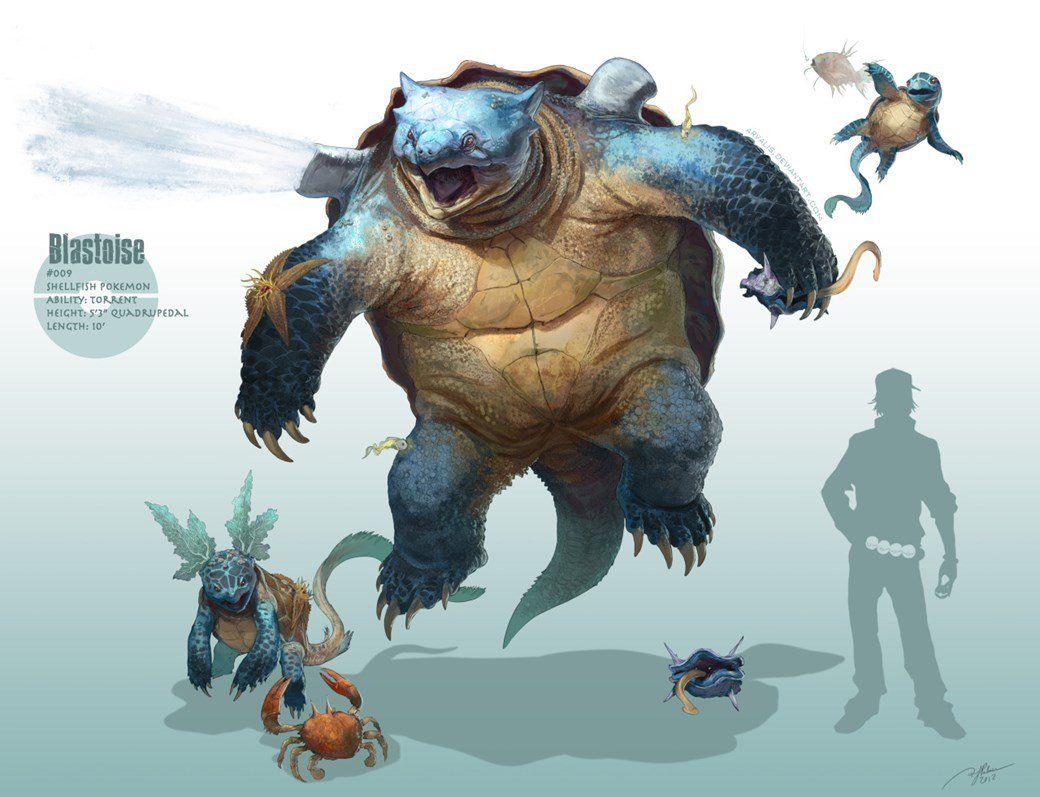 Pokémon realistas criados pelo artista RJ Palmer