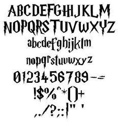 Graffiti Alphabet Letters Harry Potter style.