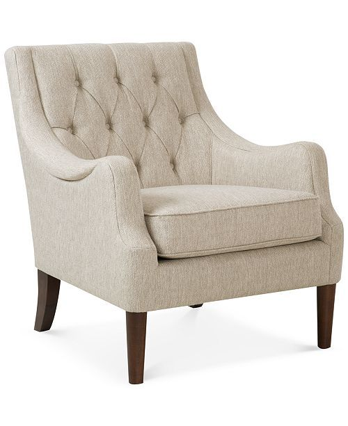 Bedroom Furniture Under 100: Glenis Tufted Accent Chair, Quick Ship