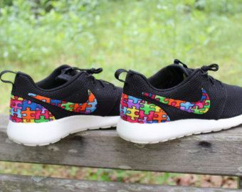 CHILD/YOUTH Autism Awareness Custom Nike Roshe by GrabbKicks