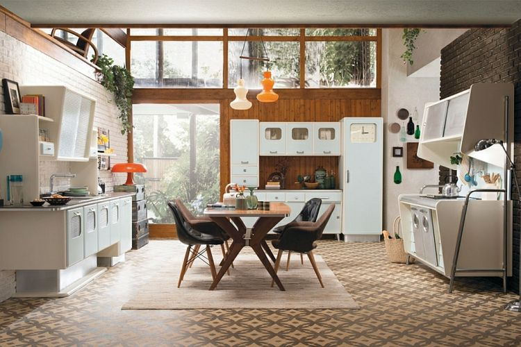 Rivestimento per parete di cucina 22 Cucine Pinterest - küchen im retro stil