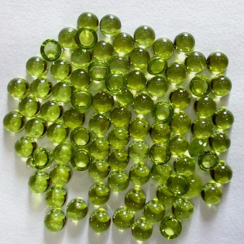 #dashrath_international Natural Peridot Cabochon Round #Gemstone SI Quality Size- 5mm Pieces- 10 pcs Price- $32.99 paypal.me/DASHRATHINT/32.99  #peridot #naturalgemstone #loosegemstone #stones #naturalperidot #gemstonesupplier #jewellerystones #naturalgemstoneperidot #cabochons