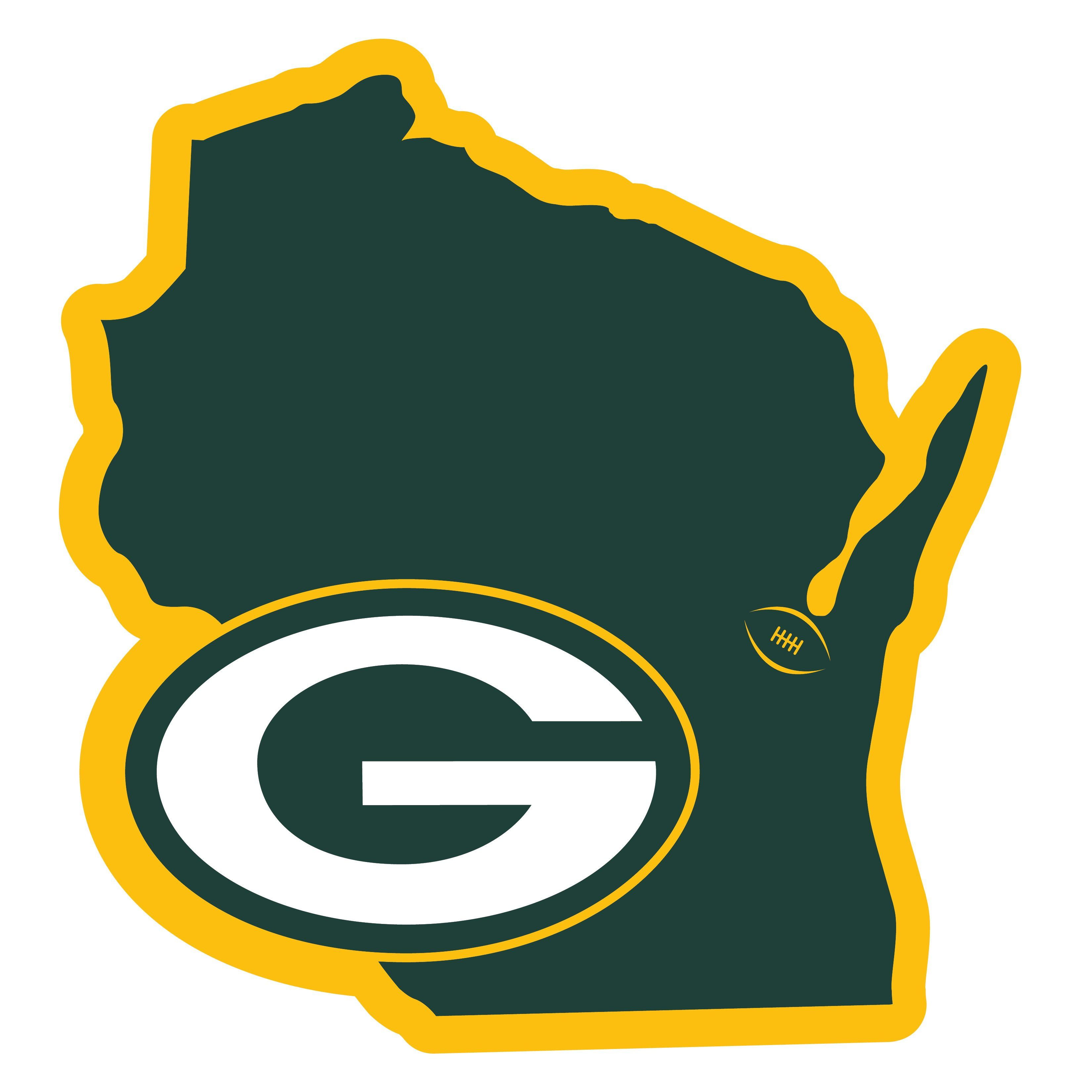 Green Bay Packers Home State 11 Inch Magnet In 2020 Green Bay Packers Logo Green Bay Packers Nfl Green Bay