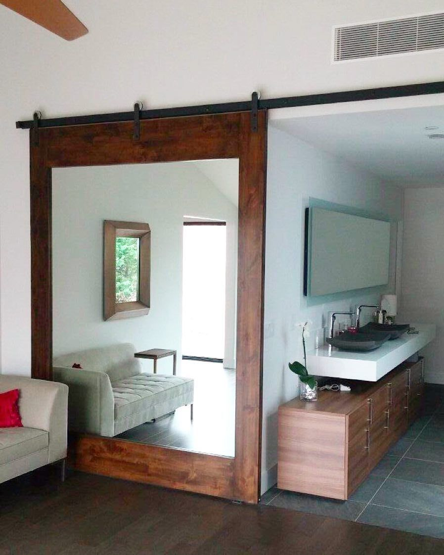 This customer's mirror door looks great and also functions well in their master bedroom.