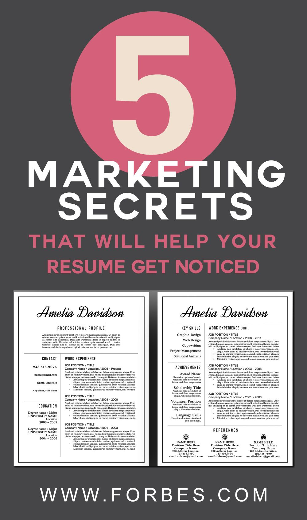 Marketing Secrets That Will Help Your Resume Get Noticed