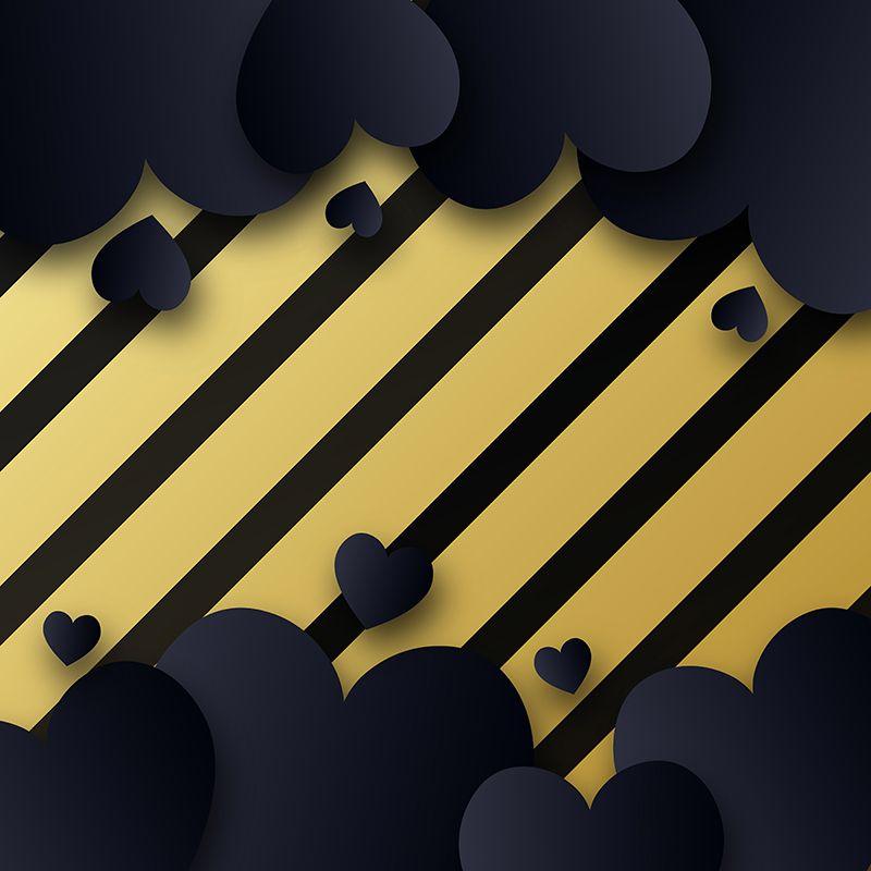 Black And Gold Stripe Vector Background Illustration Frame