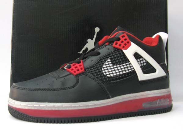 Jordan Shoes Air Jordan 4 Force Fusion Black Varsity Red White  Air Jordan 4  - Made up of premium leather 466f9ce5a13f