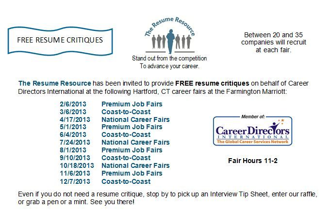 Free Resume Search Free Resume Critiquesthe Resume Resource At Hartford Ct