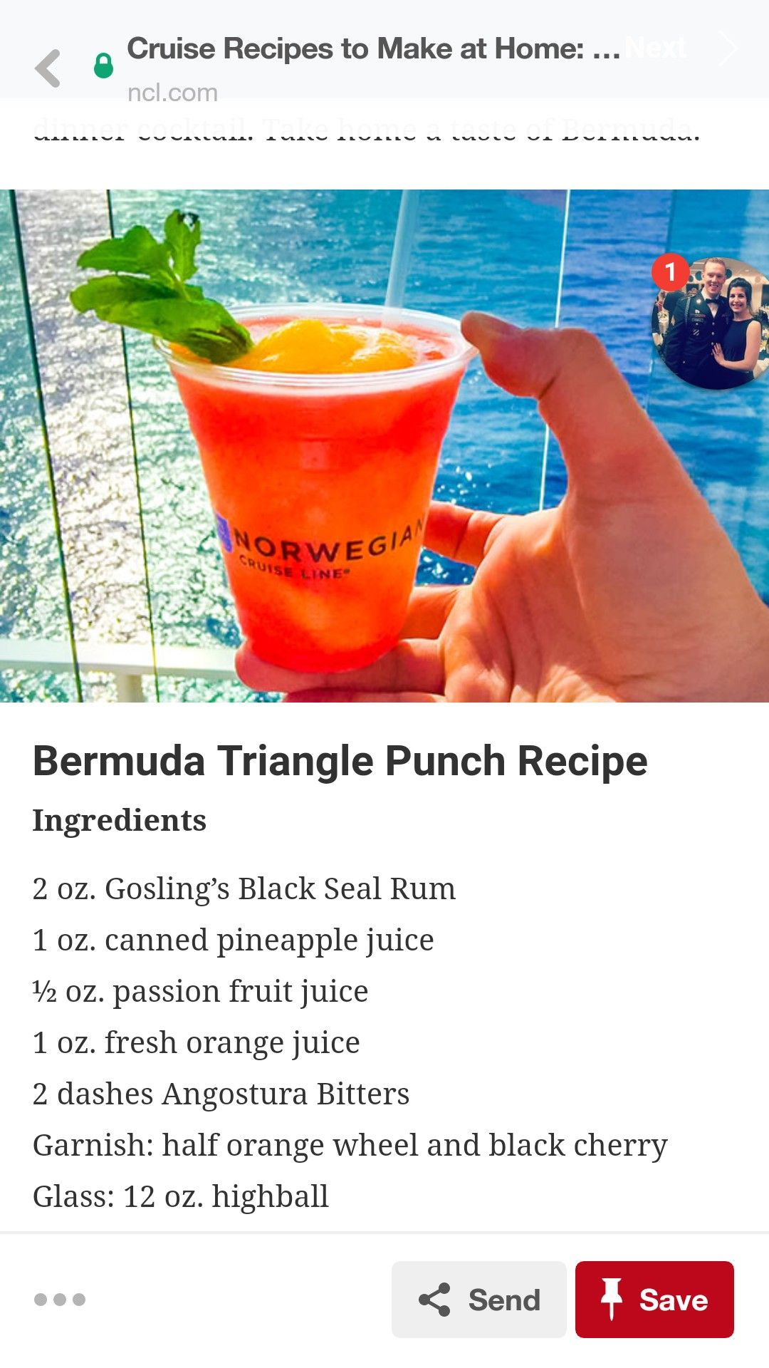 Bermuda Triangle Punch Tropical Summer Drink Recipe Tropical Drink Recipes Summer Drink Recipes Punch Recipes
