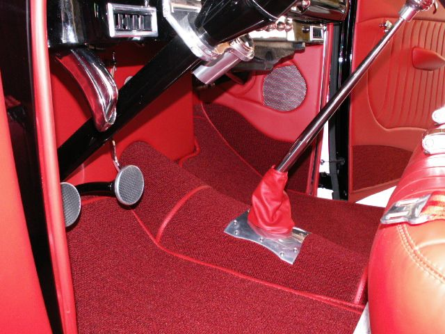 1940 Ford Coupe Custom Red Leather Interior 1940 Ford Coupe 1940 Ford Ford
