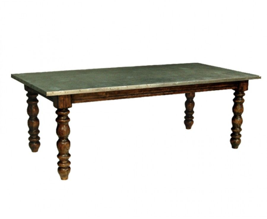 Furniture Nottingham 88 Inch Zinc Dining Table Anderson