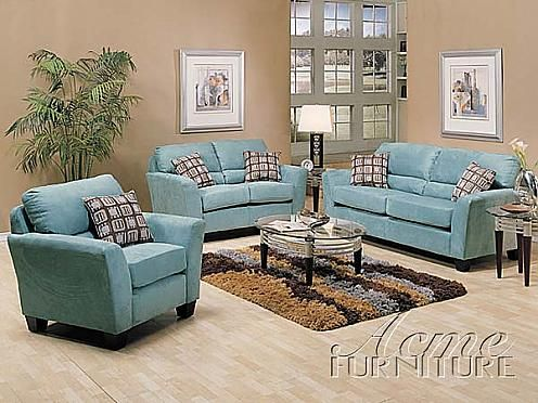 Best Blue Microfiber Sofa And Chairs Google Search Living 400 x 300