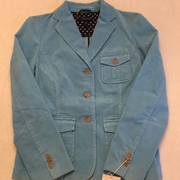 Corduroy Blazer NWT Size 6 Light blue, fine whale corduroy blazer. New with tags. 3-button, 3 front pockets. Ladies size 6. Lands' End Lands' End Jackets & Coats Blazers