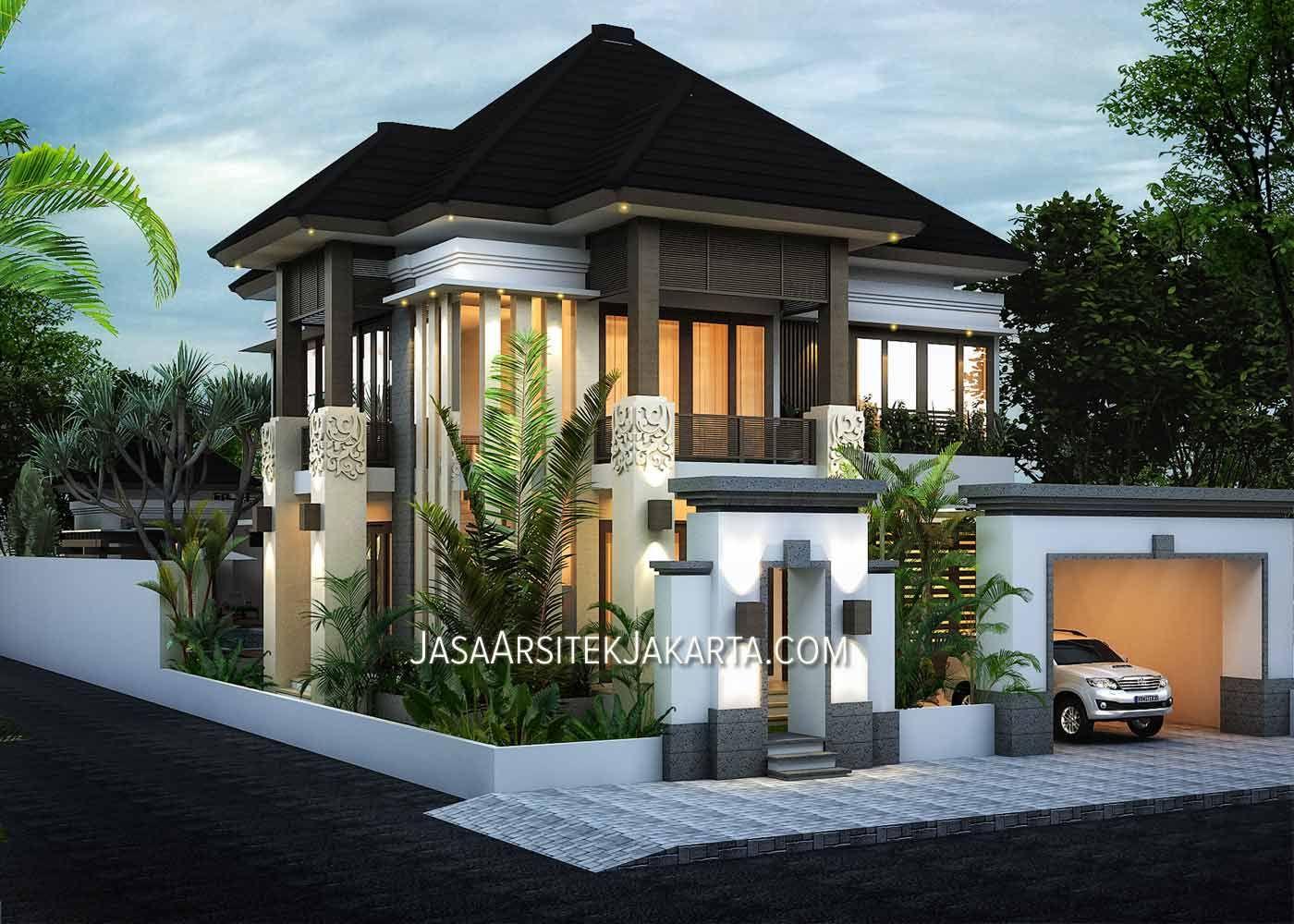 Desain Rumah Luas 350 M2 Pak Ahmad Jakarta Jasa Arsitek Jakarta Desain Rumah Arsitektur Desain Rumah 2 Lantai