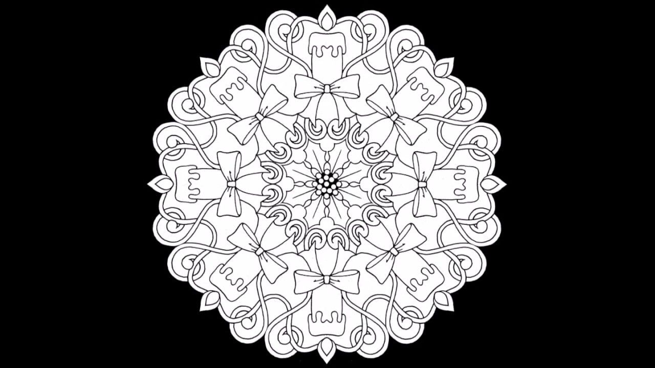 Christmas Circles 2: A Look Inside | Adult coloring book pages, Tangle art, Coloring books