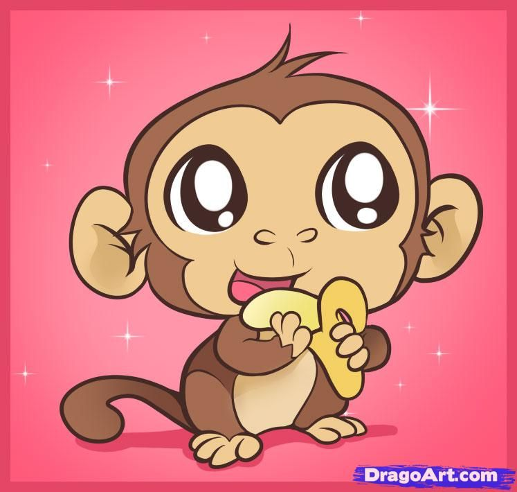 How To Draw An Easy Monkey by Dawn | Monkey drawing easy, Cute monkey