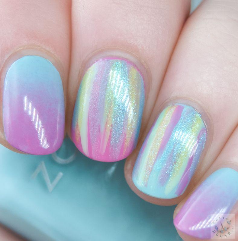Polish Hound: Waterfall & Gradient Nails with Zoya Delight [Nail Art ...
