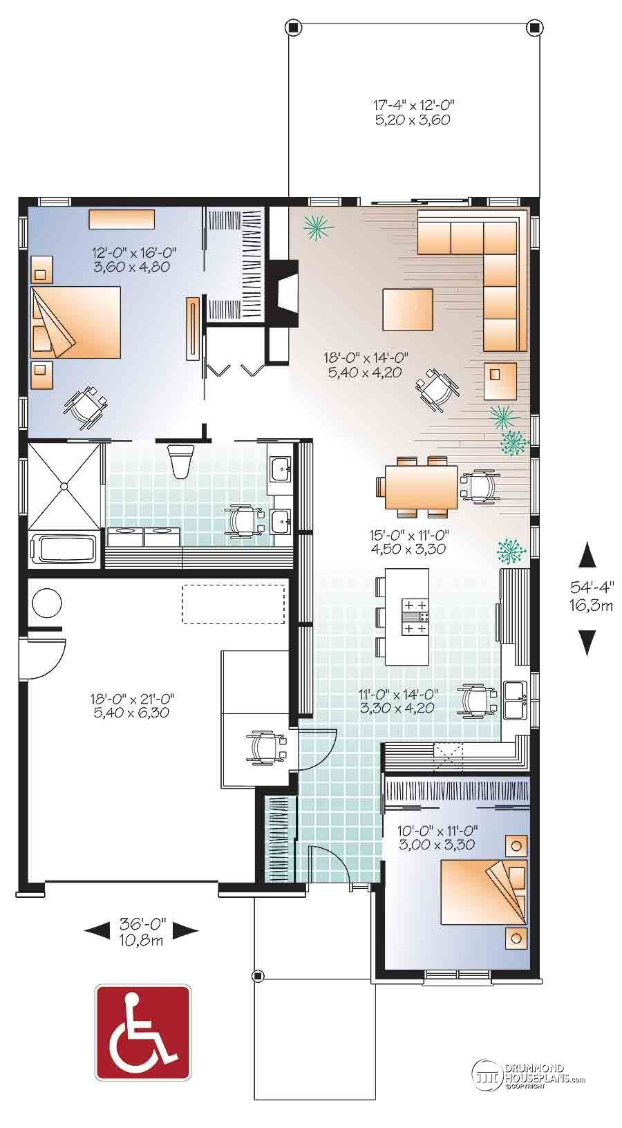 Plan Image Free House Plans Wheelchair House Plans Accessible House Plans