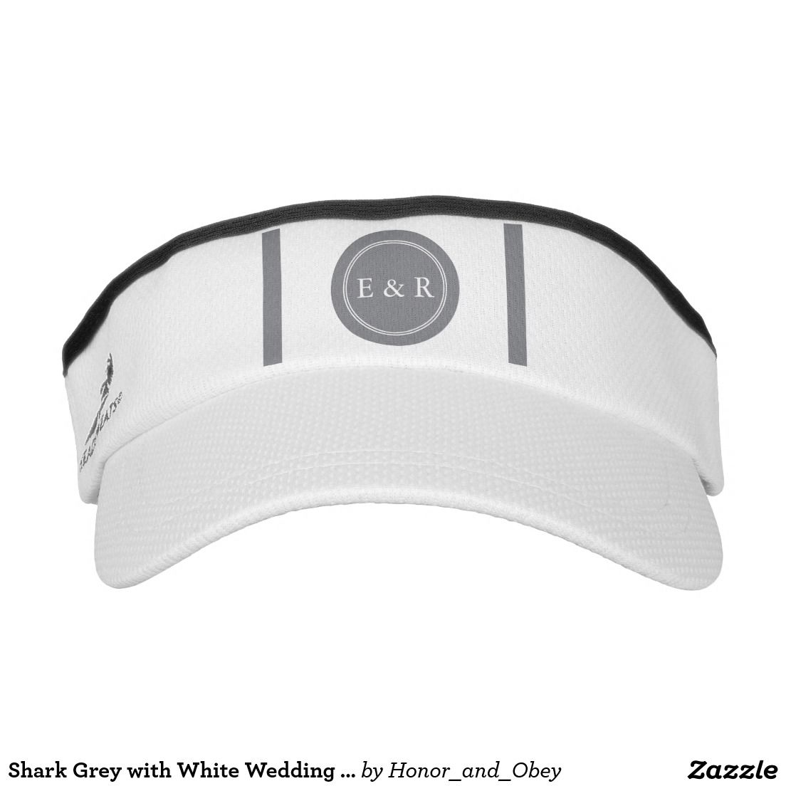 2bf7266af9b Shark Grey with White Wedding Detail Visor