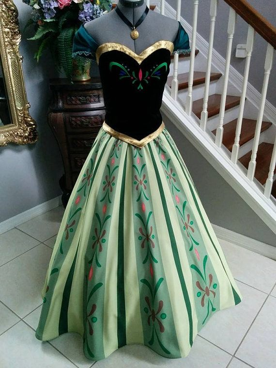 anna frozen coronation dress disney princesses pinterest merida kost m disney kleider und. Black Bedroom Furniture Sets. Home Design Ideas