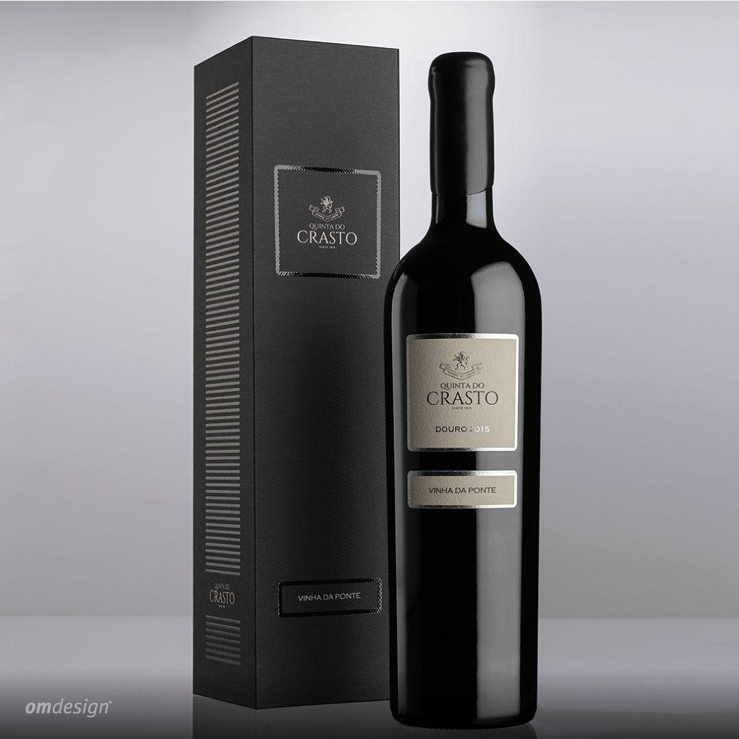Packaging Quinta do Crasto Vinha da Ponte (2018)  #Omdesign #Design #Portugal #LeçadaPalmeira #Since1998 #AwardedAgency #WinePackaging #PackagingDesign #QuintadoCrasto #VinhadaPonte #Douro #DouroWines #IVDP #PortugueseWines #WinesofPortugal