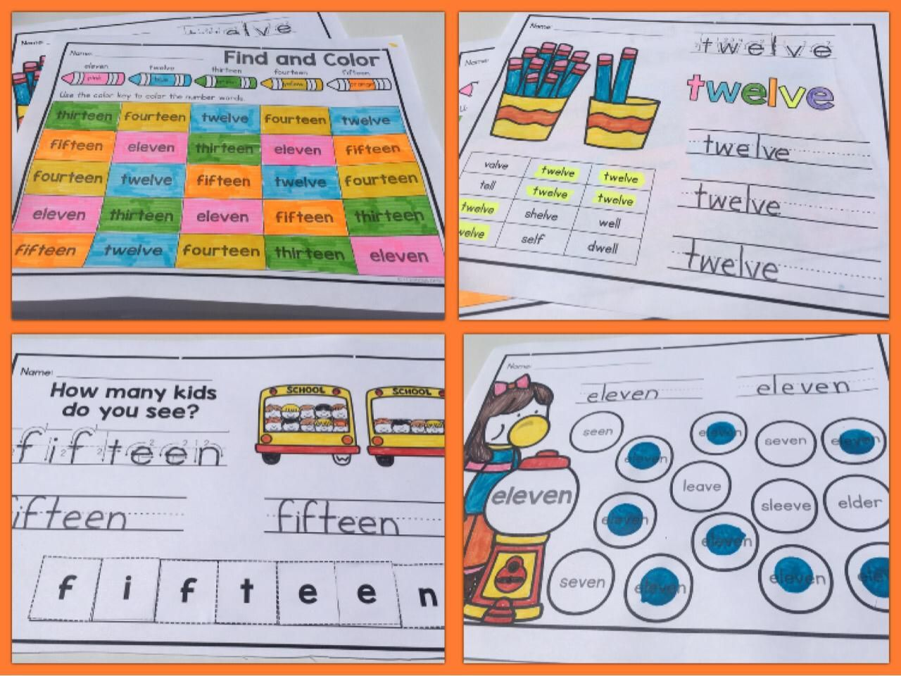 Number Words Worksheets 0 To 20