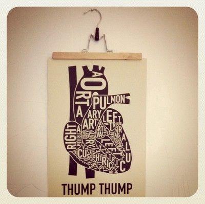 Thump thump. The heart.