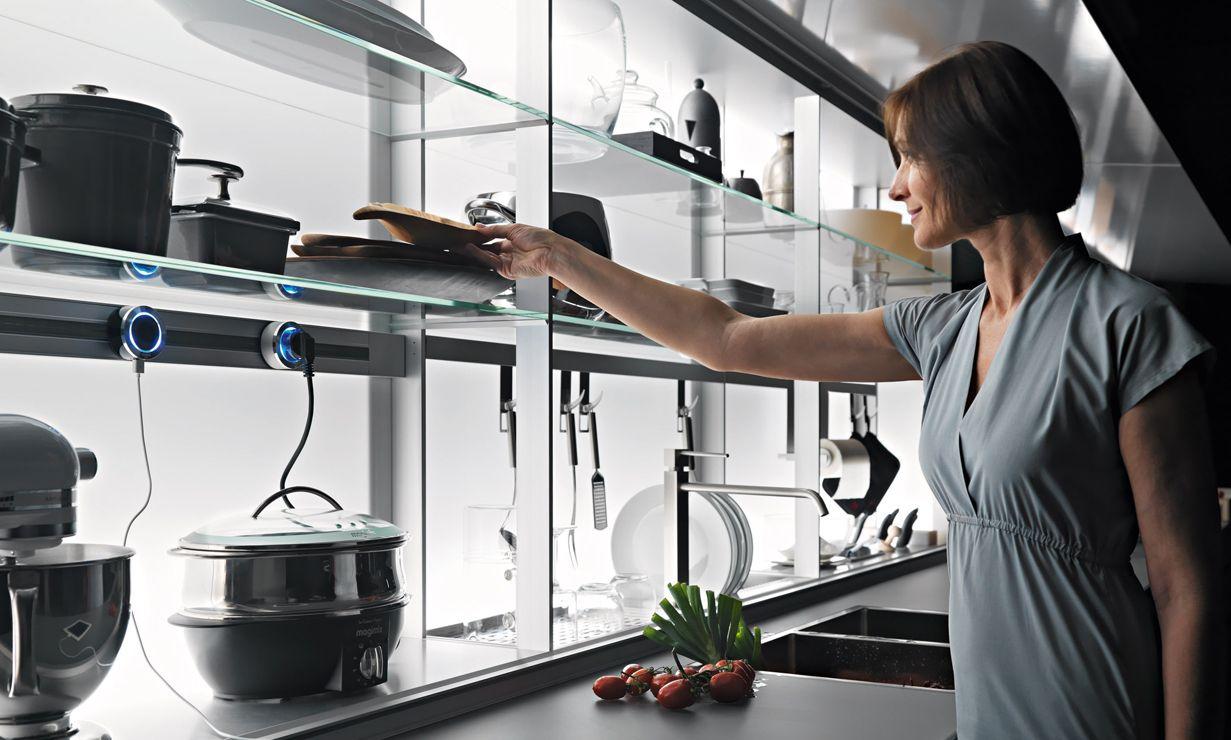 Valcucine New Logica System - Ergonomic, Hidden Kitchen ...