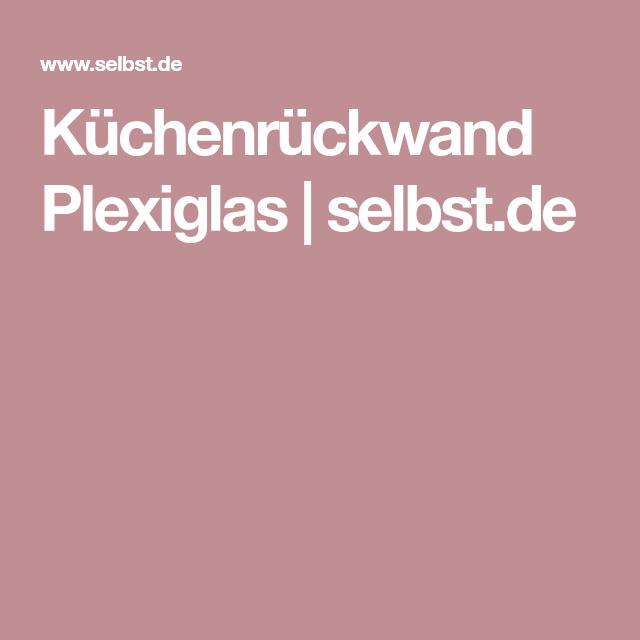 Kuchenruckwand Plexiglas