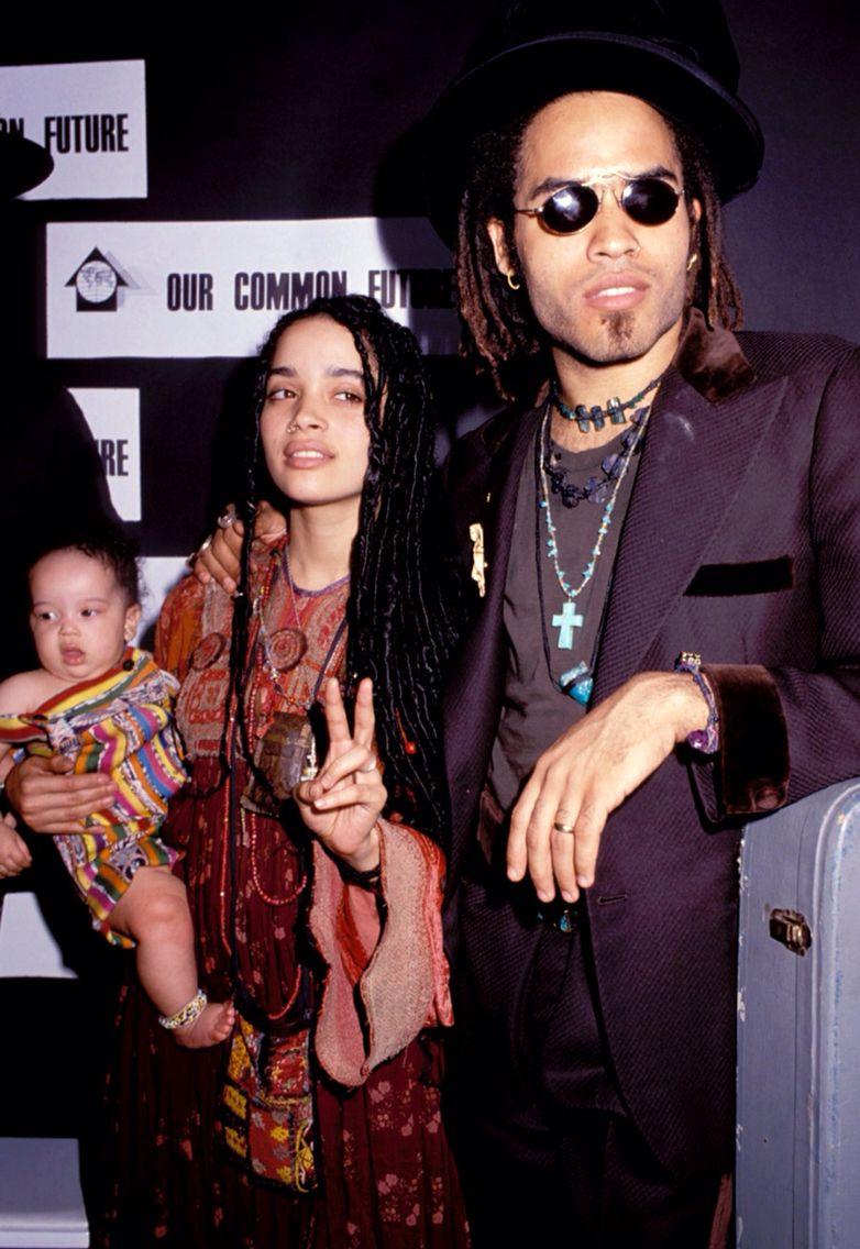 Lenny Kravitz, Lisa Bonet and Zoe Kravitz // favvves