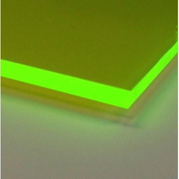 Green Fluorescent Acrylic Plexiglass Sheet 1 4 X 12 X 24 9093 Acrylic Plastic Sheets Plastic Sheets Plexiglass Sheets