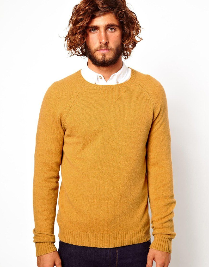 4f358876 Men's Yellow Asos Wool Rich Sweater | Look inspiration | Sweaters ...