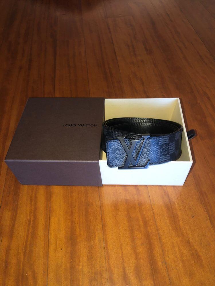 Louis Vuitton Damier Graphite Belt M9808 Men's Size 90/36